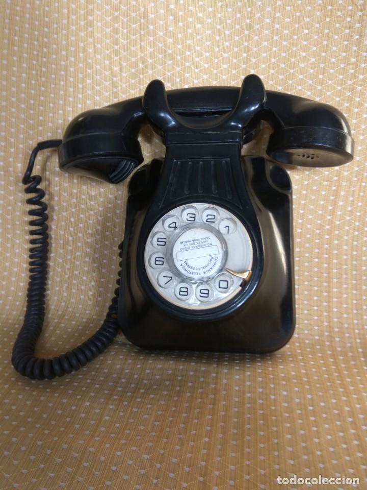 Teléfonos: TELÉFONO ANTIGUO DE PARED DE BAQUELITA, AÑOS 50 - Foto 2 - 195489970