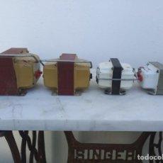 Antigüedades: 4 TRANSFORMADORES ELEVADOR RADIO VOLTIOS ELECTRICO TRANSFORMADOR DE CORRIENTE. Lote 195491660