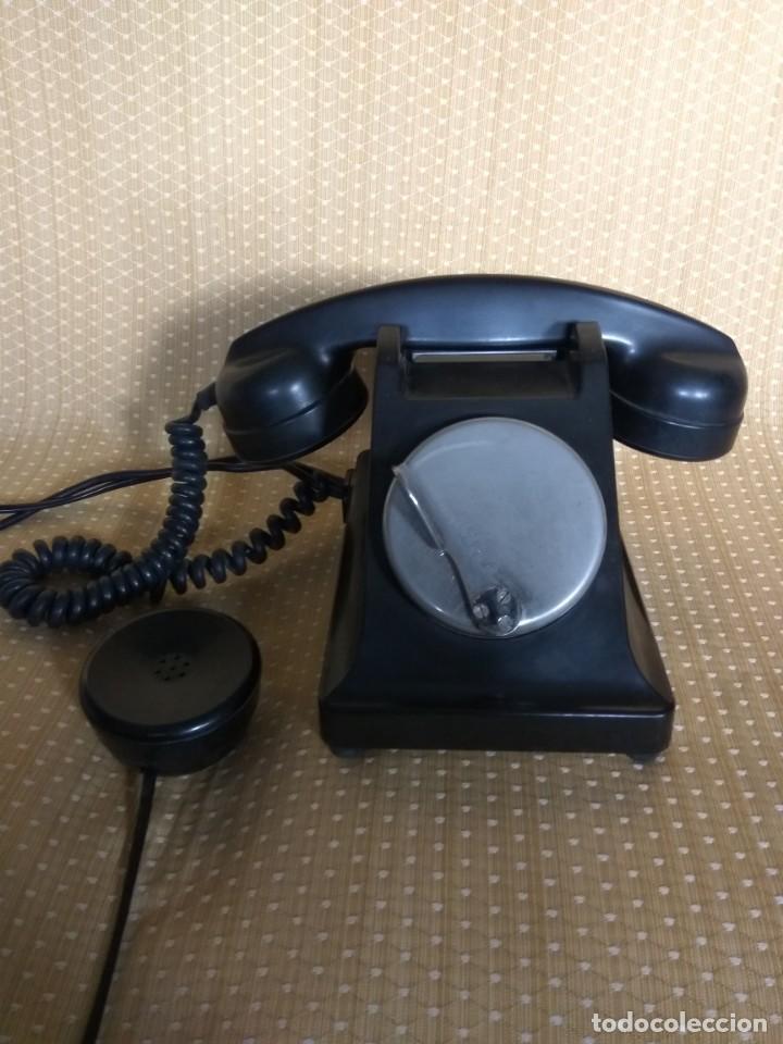 Teléfonos: TELÉFONO DE MESA FRANCÉS DE BAQUELITA, AÑO 1961, CON AURICULAR SUPLEMENTARIO - Foto 2 - 195494370