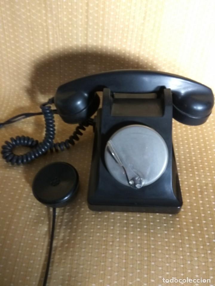 Teléfonos: TELÉFONO DE MESA FRANCÉS DE BAQUELITA, AÑO 1961, CON AURICULAR SUPLEMENTARIO - Foto 3 - 195494370