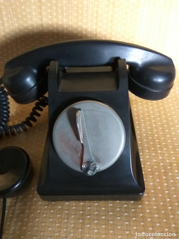 Teléfonos: TELÉFONO DE MESA FRANCÉS DE BAQUELITA, AÑO 1961, CON AURICULAR SUPLEMENTARIO - Foto 4 - 195494370