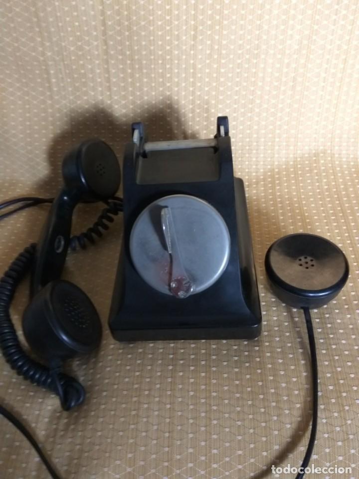 Teléfonos: TELÉFONO DE MESA FRANCÉS DE BAQUELITA, AÑO 1961, CON AURICULAR SUPLEMENTARIO - Foto 5 - 195494370