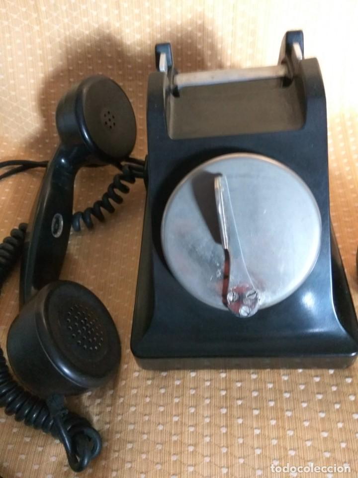 Teléfonos: TELÉFONO DE MESA FRANCÉS DE BAQUELITA, AÑO 1961, CON AURICULAR SUPLEMENTARIO - Foto 6 - 195494370