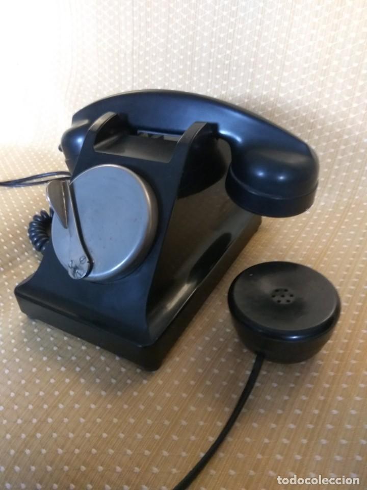 Teléfonos: TELÉFONO DE MESA FRANCÉS DE BAQUELITA, AÑO 1961, CON AURICULAR SUPLEMENTARIO - Foto 9 - 195494370