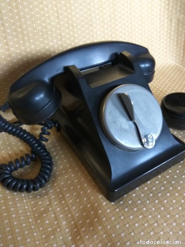 Teléfonos: TELÉFONO DE MESA FRANCÉS DE BAQUELITA, AÑO 1961, CON AURICULAR SUPLEMENTARIO - Foto 10 - 195494370