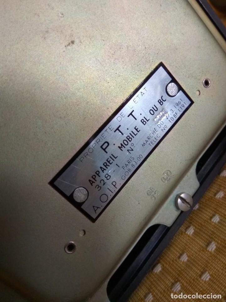 Teléfonos: TELÉFONO DE MESA FRANCÉS DE BAQUELITA, AÑO 1961, CON AURICULAR SUPLEMENTARIO - Foto 13 - 195494370