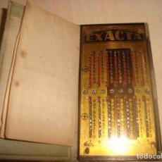 Antigüedades: ANTIGUA CALCULADORA DE BOLSILLO EXACTA CON HOJA DE INSTRUCCIONES .. Lote 195500085