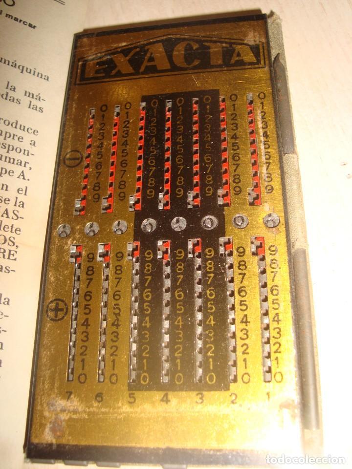 Antigüedades: antigua calculadora de bolsillo exacta con hoja de instrucciones . - Foto 3 - 195500085