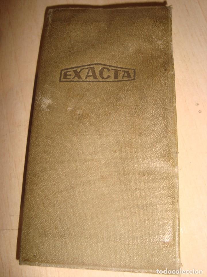 Antigüedades: antigua calculadora de bolsillo exacta con hoja de instrucciones . - Foto 4 - 195500085