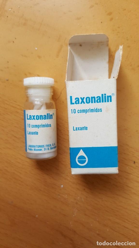 ANTIGUO MEDICAMENTO LAXONALIN LABORATORIOS FHER (Antigüedades - Técnicas - Herramientas Profesionales - Medicina)