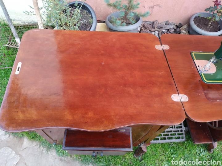 Antigüedades: Maquina de coser Refrey , con mueble precioso - Foto 21 - 195529665