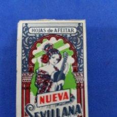 Antigüedades: NUEVA SEVILLANA CAJA DE 10HOJAS DE AFEITAR. Lote 195537660