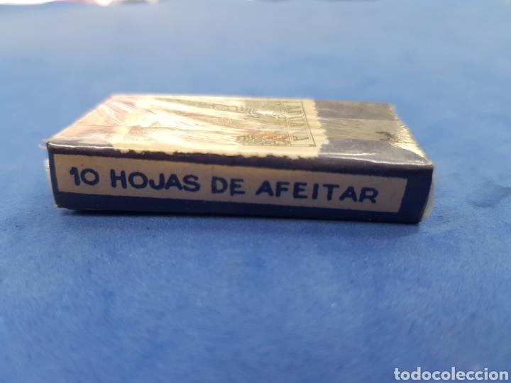 Antigüedades: La Andaluda caja de 10 hojas de afeitar - Foto 3 - 195537885