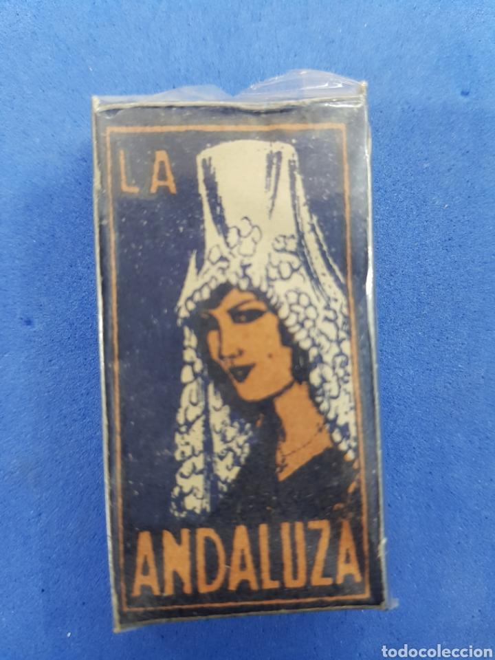 LA ANDALUDA CAJA DE 10 HOJAS DE AFEITAR (Antigüedades - Técnicas - Barbería - Hojas de Afeitar Antiguas)