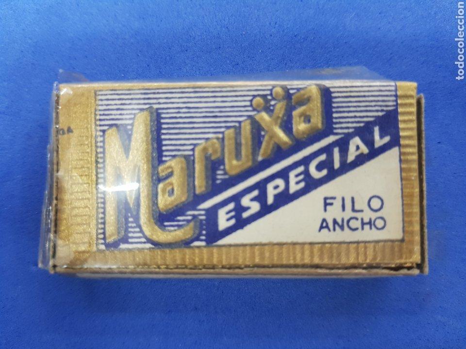 MARUXA CAJA DE 10 HOJAS DE AFEITAR (Antigüedades - Técnicas - Barbería - Hojas de Afeitar Antiguas)
