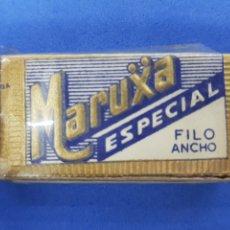 Antigüedades: MARUXA CAJA DE 10 HOJAS DE AFEITAR. Lote 195538261