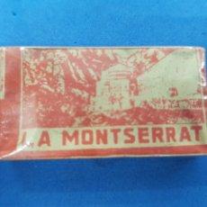 Antigüedades: LA MONTSERRAT CAJA DE 10 HOJAS DE AFEITAR. Lote 195538425