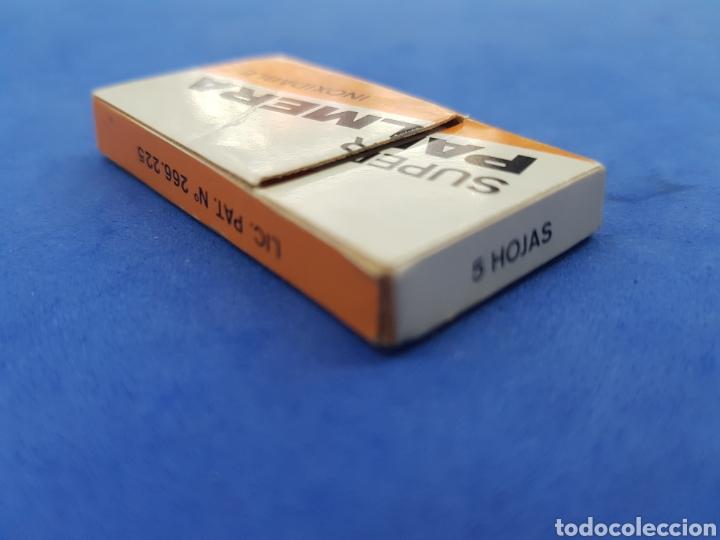 Antigüedades: Súper Palmera caja de 5 hojas de afeitar - Foto 2 - 195538727