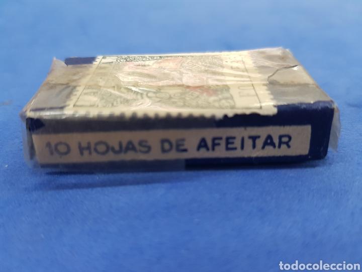 Antigüedades: La Cadena ,Caja de 10 hojas de afeitar - Foto 3 - 195539051