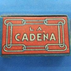 Antigüedades: LA CADENA ,CAJA DE 10 HOJAS DE AFEITAR. Lote 195539051