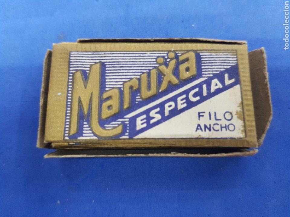 MARUXA ESPECIAL CAJA CON 9 HOJAS DE AFEITAR (Antigüedades - Técnicas - Barbería - Hojas de Afeitar Antiguas)