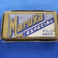 Antigüedades: MARUXA ESPECIAL CAJA CON 9 HOJAS DE AFEITAR. Lote 195539395