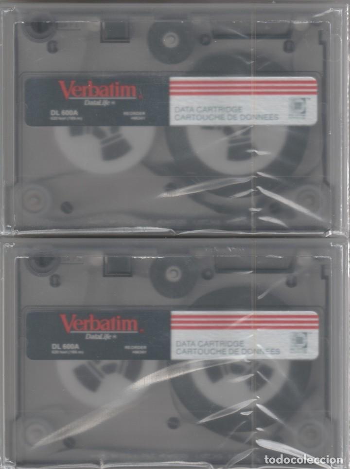 LOTE DE 2 VERBATIM DL 600A DATA CARTRIDGE NUEVOS Y PRECINTADOS (Antigüedades - Técnicas - Ordenadores hasta 16 bits (anteriores a 1982))