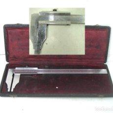 Antigüedades: ANTIGUO CALIBRE GAMI - INOXIDABLE TEMPLADO CON ESTUCHE AÑOS 60 - PIE DE REY -G.AMI. Lote 195610775