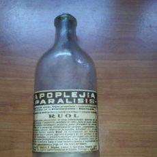 Antigüedades: BOTELLA PARALISIS- APOPLEJIA. Lote 195613207