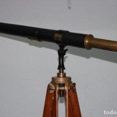 Antigüedades: ANTIGUO CATALEJO CON TRIPODE FIRMA E.VION PARIS DE 1900. Lote 195642280
