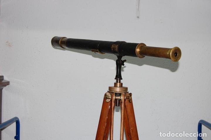 Antigüedades: ANTIGUO CATALEJO CON TRIPODE FIRMA E.VION PARIS DE 1900 - Foto 2 - 195642280