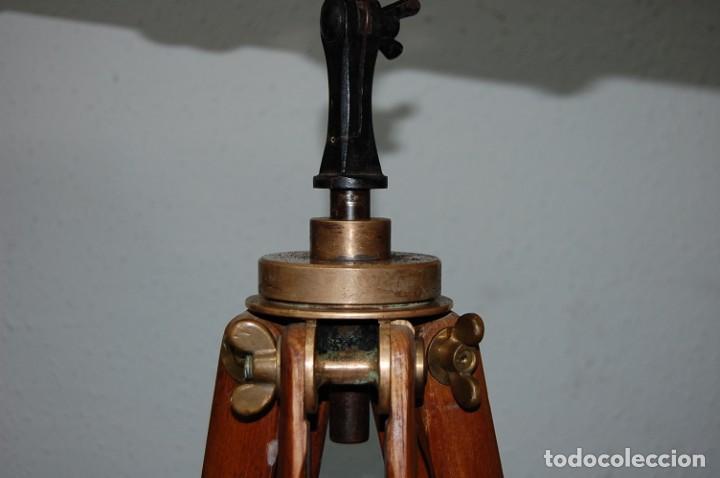 Antigüedades: ANTIGUO CATALEJO CON TRIPODE FIRMA E.VION PARIS DE 1900 - Foto 6 - 195642280