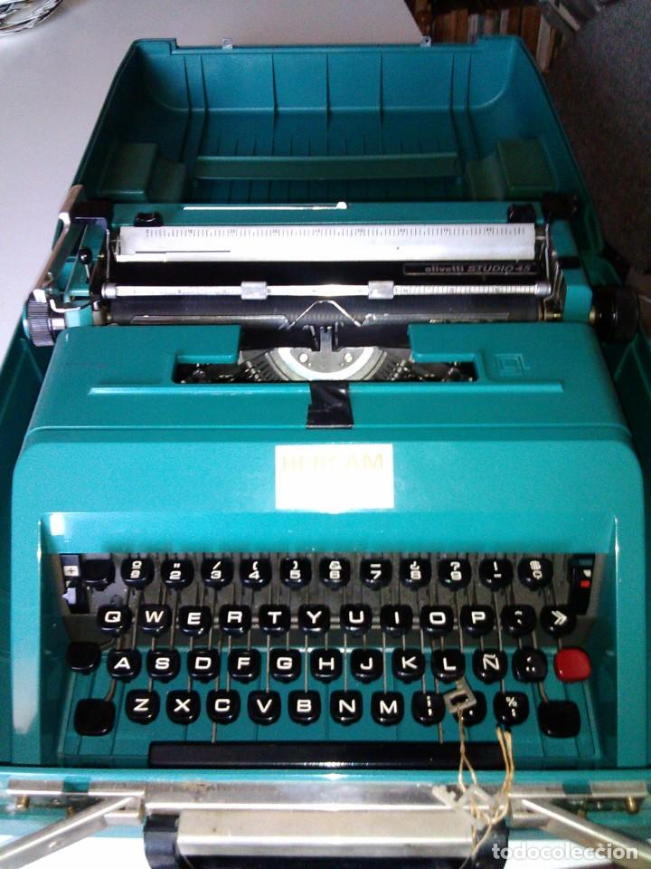 MAQUINA DE ESCRIBIR DE LOS 60, OLIVETTI STUDIO 45 (Antigüedades - Técnicas - Máquinas de Escribir Antiguas - Olivetti)