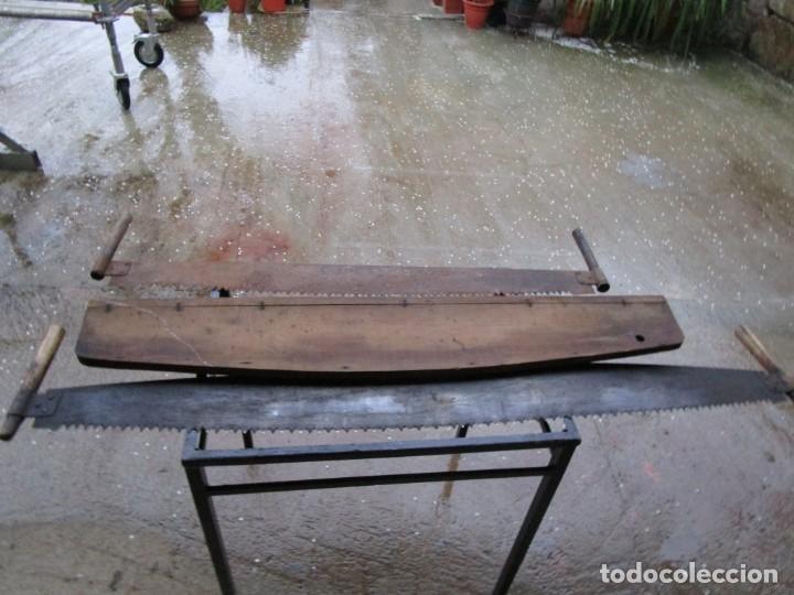 LOTE DE DOS SERRONES TRONZADORES LEÑADOR MADERA CARPINTERO, 160 Y 130CM + INFO (Antigüedades - Técnicas - Herramientas Profesionales - Carpintería )