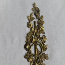 Antigüedades: EMBELLECEDOR DE BRONCE PARA RESTAURAR MUEBLE ANTIGUO. Lote 195690265