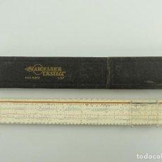 Antiquités: REGLA DE CÁLCULO, EN MADERA, FABER CASTELL SYST RIETZ 1/87, CON SU ESTUCHE.. Lote 195732903