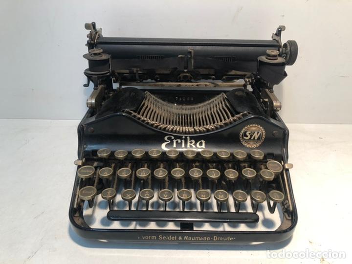 MAQUINA DE ESCRIBIR ERIKA AÑO 1917 PLEGABLE. (Antigüedades - Técnicas - Máquinas de Escribir Antiguas - Erika)