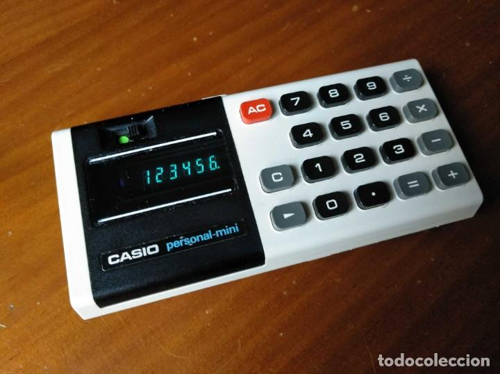 ANTIGUA CALCULADORA CASIO PERSONAL MINI ELECTRONIC CALCULATOR AÑOS 70 PERSONAL-MINI CALCULATOR (Antigüedades - Técnicas - Aparatos de Cálculo - Calculadoras Antiguas)