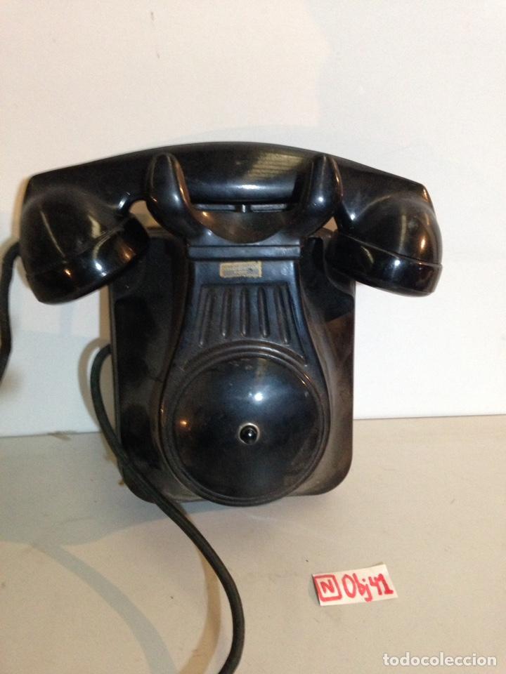 TELÉFONO DE BAKELITA PARA COMUNICACIÓN INTERNA (Antigüedades - Técnicas - Teléfonos Antiguos)