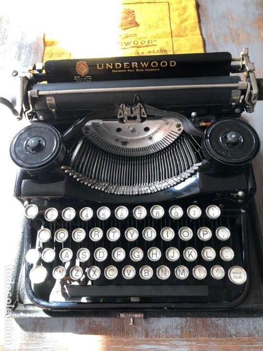 ESPECTACULAR MAQUINA DE ESCRIBIR MARCA UNDERWOOD NUMERO 3 (Antigüedades - Técnicas - Máquinas de Escribir Antiguas - Underwood)