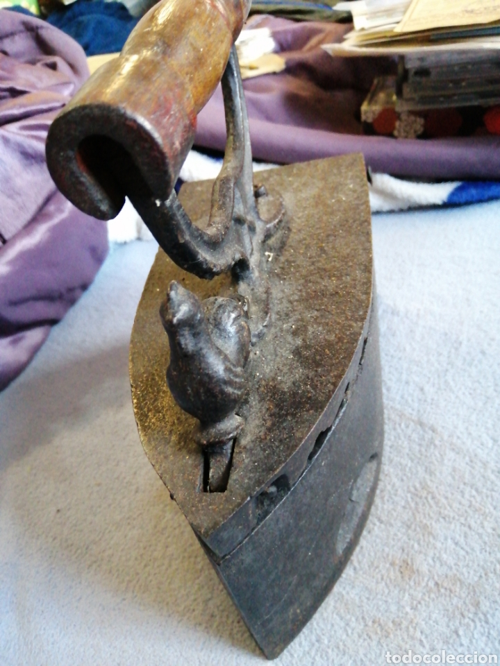 Antigüedades: Plancha a carbón original y en excelente estado - Foto 3 - 196037801