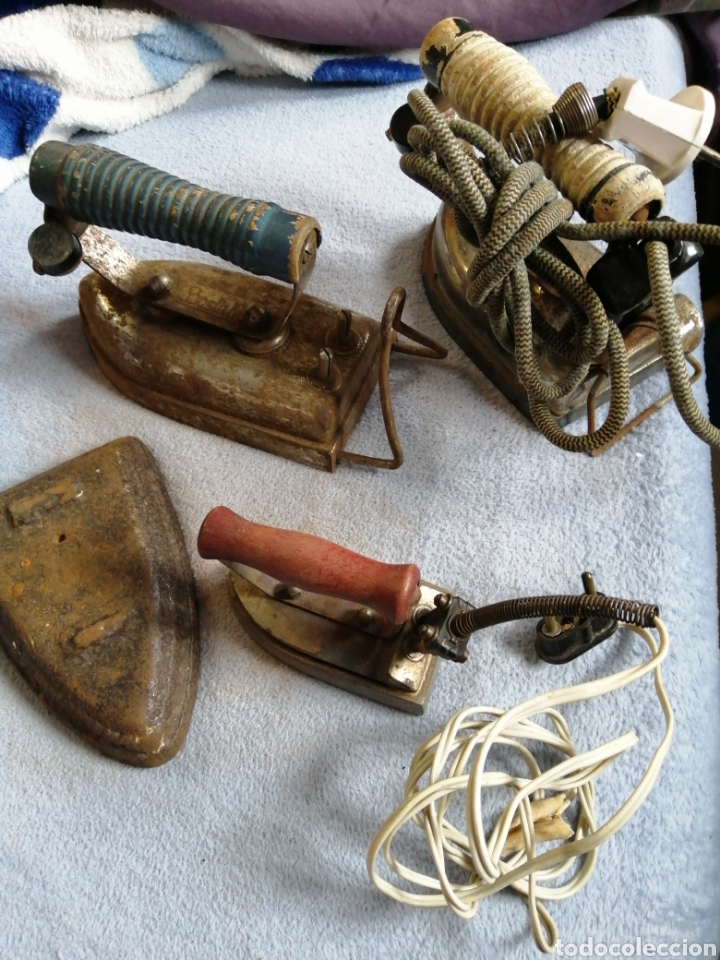 LOTE PLANCHAS ANTIGUAS ELÉCTRICAS (Antigüedades - Técnicas - Planchas Antiguas - Eléctricas)