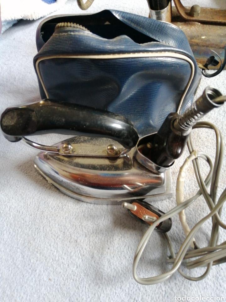 Antigüedades: Plancha eléctrica portátil antigua illman - Foto 2 - 196039131