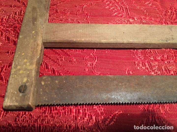 Antigüedades: Antigua sierra / serrucho de arco de madera años finales siglo XIX - Foto 2 - 196131495