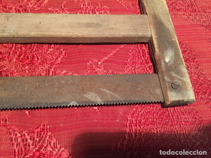 Antigüedades: Antigua sierra / serrucho de arco de madera años finales siglo XIX - Foto 3 - 196131495