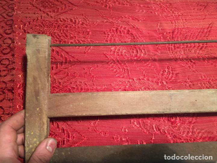 Antigüedades: Antigua sierra / serrucho de arco de madera años finales siglo XIX - Foto 5 - 196131495