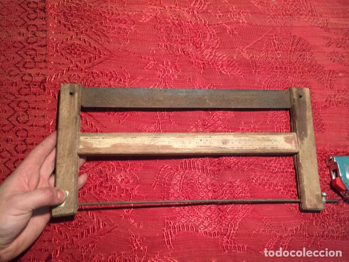 Antigüedades: Antigua sierra / serrucho de arco de madera años finales siglo XIX - Foto 6 - 196131495