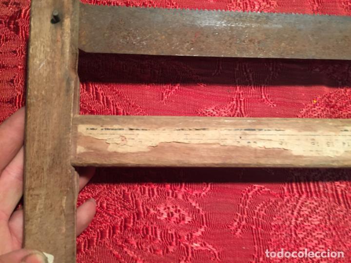 Antigüedades: Antigua sierra / serrucho de arco de madera años finales siglo XIX - Foto 7 - 196131495