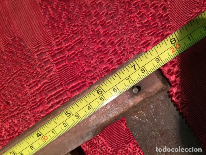 Antigüedades: Antigua sierra / serrucho de arco de madera años finales siglo XIX - Foto 10 - 196131495