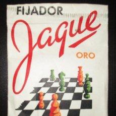 Antigüedades: ANTIGUO SOBRE DE FIJADOR JAQUE ORO EN POLVO. MUY RARO. PRODUCTOS ÍNTIMO, BARCELONA.. Lote 196155292